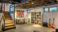 9. Unfinished Basement ideas with study Room